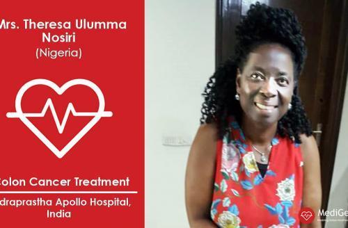 Successful Colon Cancer Treatment in India: A Case Study (Mrs. Theresa Ulumma Nosiri from Nigeria)