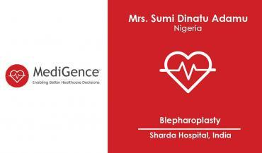 Nigerian patient underwent Blepharoplasty in India | MediGence
