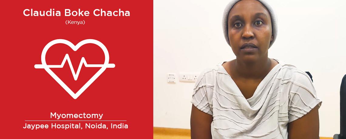 Patient from Kenya underwent Myomectomy Procedure in India