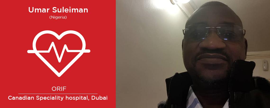 Umar Suleiman in Dubai post Health Check-up