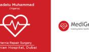 Nigerian Patient Underwent Hernia Repair Surgery in Dubai