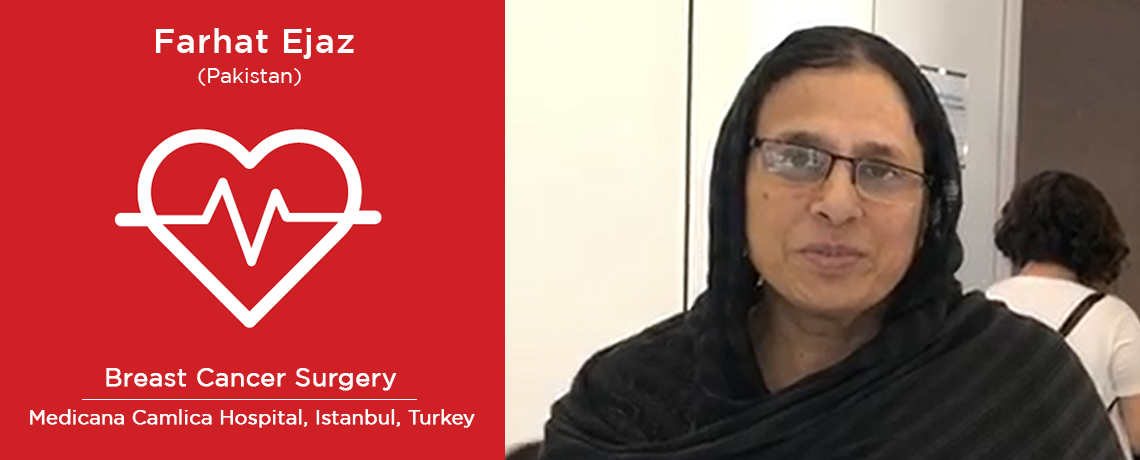 Farhat Ezaj in Turkey post breast cancer treatment