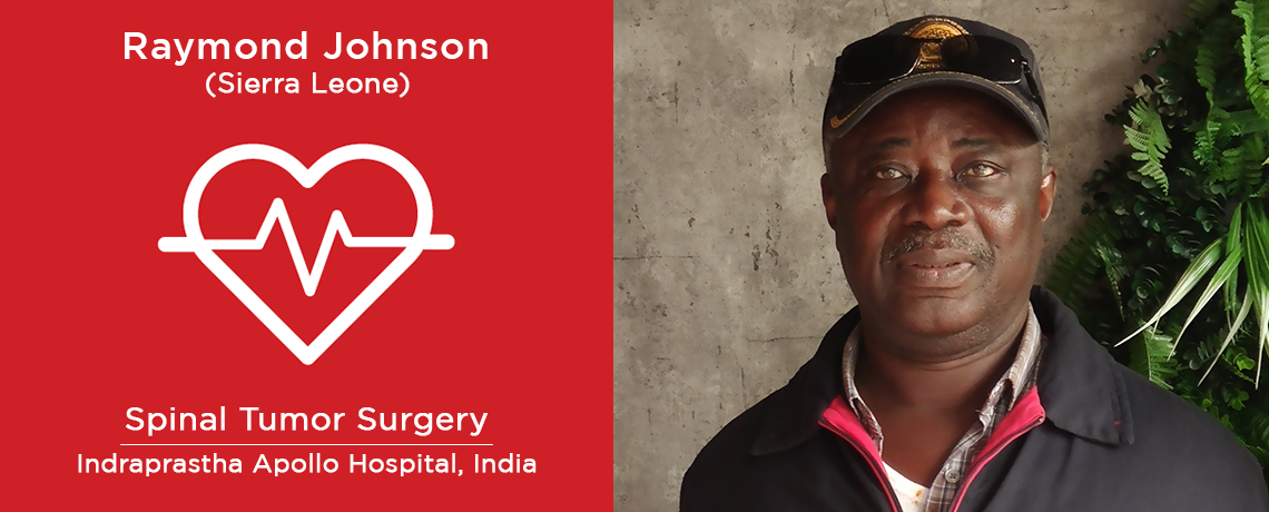 Patient from Sierra Leone underwent Spinal Tumor Surgery in India