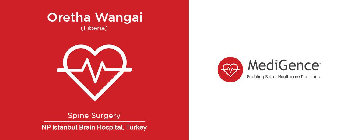 Oretha Wangai From Liberia - Spine Surgery at NP Instanbul Brain Hospital