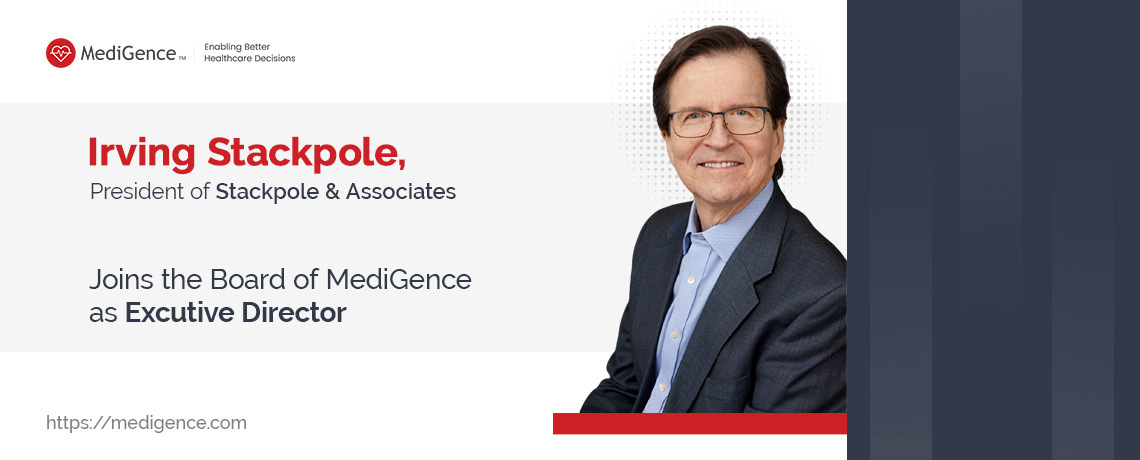 Ирвинг Стакпол, президент Stackpole & Associates, входит в совет директоров MediGence