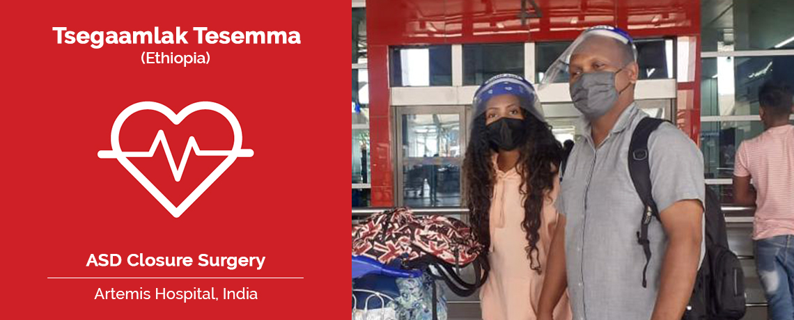 Patient Testimonial | Ms. Tesemma Underwent ASD closure in Artemis Hospital India