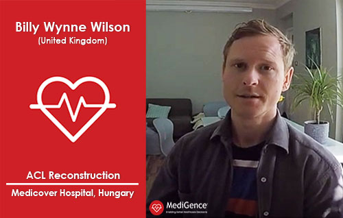 Billy Wynne Wilson from UK underwent ACL Reconstruction in Hungary | MediGence